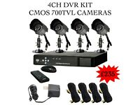 CCTV 4 Cameras System 700TVL 960H DVR 1TB