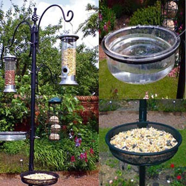Garden Feeding Station Wild Bird Bath Seed Water Tray