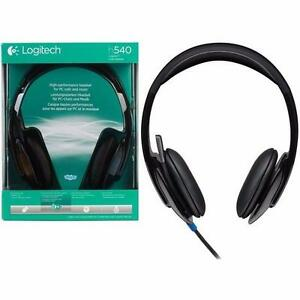 New / Neuf - Casque Haute Performance USB Logitech h540 Headset