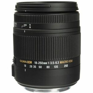 Sigma 18-250mm F3.5-6.3 DC Macro OS HSM for Canon EF Mount pour