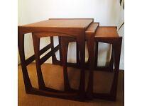 G PLAN RETRO VINTAGE TEAK QUADRILLE NEST OF TABLES G PLAN DANISH DESIGN