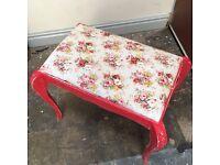 Vintage floral dressing table stool