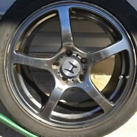 """RIMS 17"""" 5x114 with tires 450- OBO price is negotiable"""