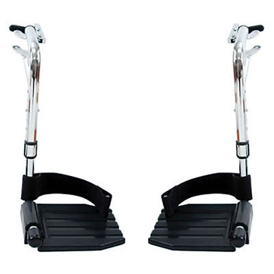 Invacare Wheelchair Swing away Footrests with Heel Loops T93HC Foot rests