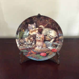 BRADFORD EXCHANGE  KITTEN/CAT DECORATIVE PLATE