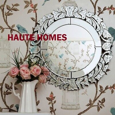 NEW Stunning LARGE ROUND VENETIAN ETCH ENGRAVE FRAME Wall Vanity Mirror