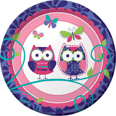 Owl Pay  Birthday Party Supplies Small Dessert Plates](Owl Birthday Party)