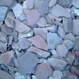 Garden chips/stones supplied and spread