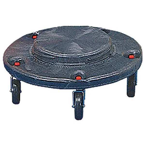 RUBBERMAID FG264000BLA Brute Container Dolly,250 lb.,Fits 55 gal.