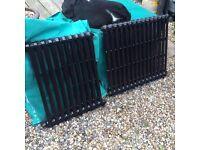2 X cast iron radiators