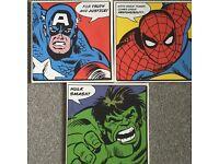 Super hero canvases