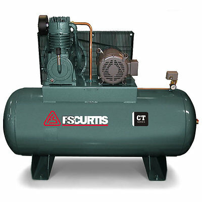 FS-Curtis CT10 10-HP 120-Gallon Two-Stage Air Compressor (460V 3-Phase)