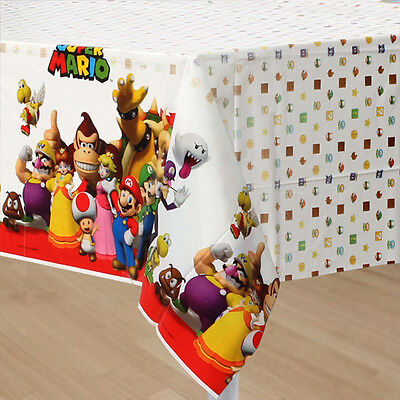 NEW Super Mario Brothers Plastic Table Cover Birthday Party Supplies Decorations - Mario Birthday Party