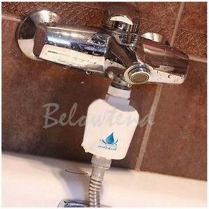 in line softener head filter carbon water remove clean tap shower faucet ebay. Black Bedroom Furniture Sets. Home Design Ideas