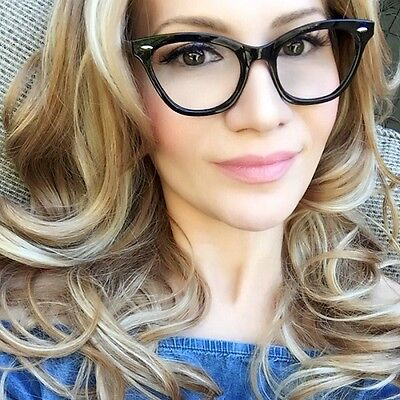 Sexy Thin Slim Frame Clear Lens Wayf Cat Eye Fashion Eye Glasses Lux Frames (Luxe Frames)