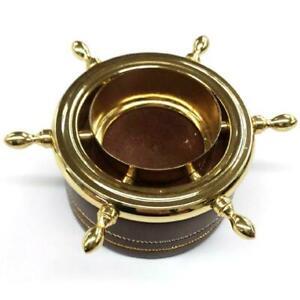 Ships Wheel Tea Light (Chr)