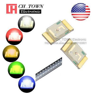 5 Lights 100pcs 1206 3216 Smd Smt White Red Yellow Green Led Diodes Mix Kits