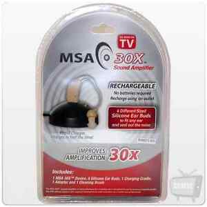 MSA 30X Sound Amplifier | As Seen On TV | Hearing Aid | Light | Rechargeable
