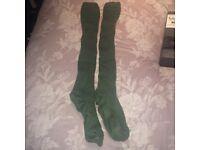 Green kilt socks