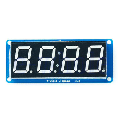 0.56 Led 4-digit Tube Display D4056a Module With Time Clock For Arduino Tw