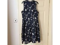 Beautiful navy and white floral dress from Warehouse