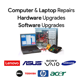 Laptop / PC / computer Upgrades Repairs and Fixes