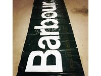 Vintage Barbour clothing banner