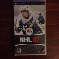 NHL 07 for the PSP  Rare!!!