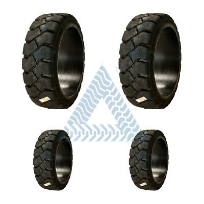 4pk 2-21x7x15 Tires And 2-16x5x10-12 Tires Solid Forklift Tires- Traction