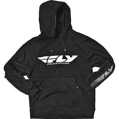 FLY RACING CORPORATE Hoody Sweatshirt (BLACK) Choose Size