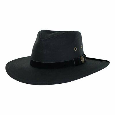 7fcd6824300eb Kodiak Cotton Oilskin Western Cowboy Hat Black Large