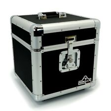 "Gorilla LP100 12"" Vinyl Record Storage Box Flight Carry Case Holds 100 (Black)"