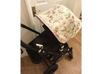 Custom floral hood for Bugaboo Cameleon 1,2 &3