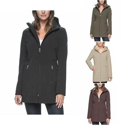 Andrew Marc Womens Jacket - Andrew Marc Womens Long Softshell 4 Way Stretch Jacket Choose Size & Color -E