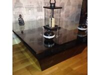 Black marble effect DFS coffee table