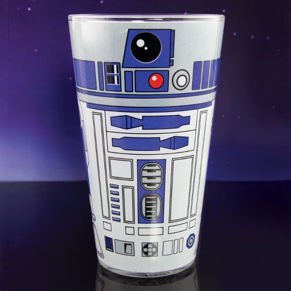 Star Wars R2D2 Pint GLASS Beer Cold Drink Glass 500ml R2-D2 Droid Design