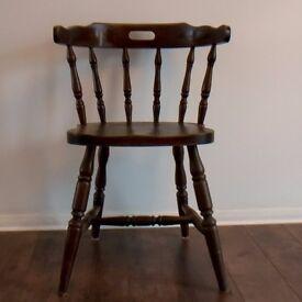 Farmhouse wooden chair