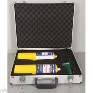 Kit soldadura en maleta soplete soldador de mano con gas - Soldador de gas ...