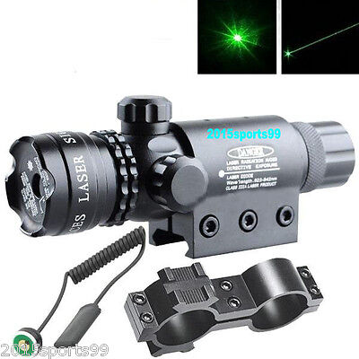 Green laser sight outside adjust For rifle gun scope remote switch 2 mounts #03
