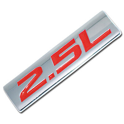 CHROME/RED METAL 2.5L ENGINE RACE MOTOR SWAP EMBLEM BADGE FOR TRUNK HOOD DOOR