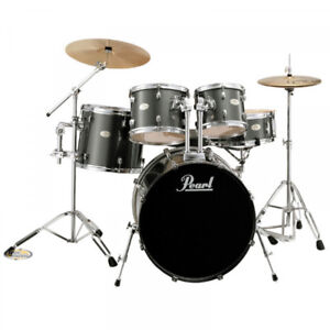 5 pc. Pearl Forum complete with cymbals, hardware, throne.