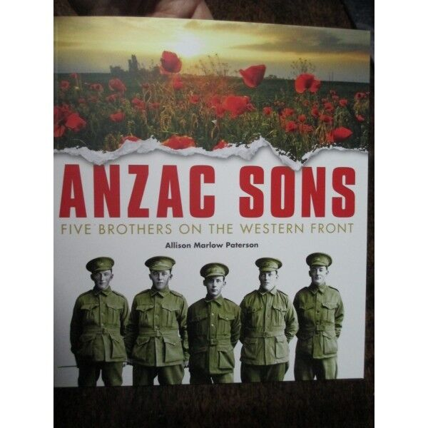 Anzac Sons 5 Brothers on the Western Front Children Anzac Day School Book
