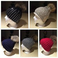 Fur hats Pompom