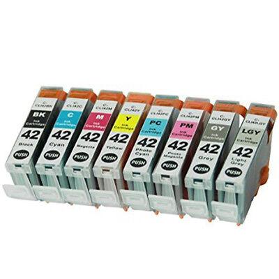 8 PK Premium Ink Cartridges for Canon CLI-42 Pixma Pro-100 Pro 100 Printer ()