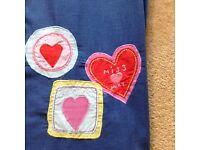 Girls blue single duvet cover