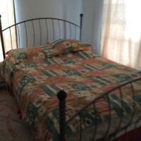 Queen single bed matelic furniture for sale 5142605594