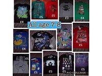 Boys t-shirts *BNWT & BNWOT* aged 7-8 years.