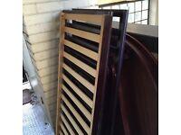 Brown solid wood cot £10