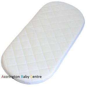QUILTED BREATHABLE PRAM MATTRESS FITS BABYSTYLE OYSTER CARRYCOT PRAM