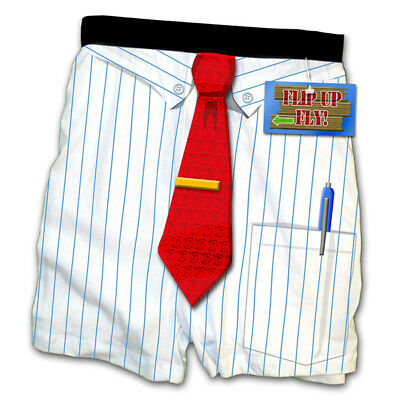 Funny boxers: gag gift, business man, tie boxer shorts